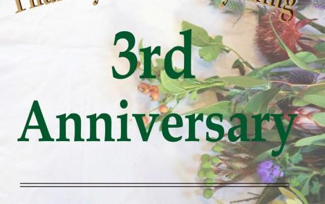 3rd Anniversaryのお知らせ